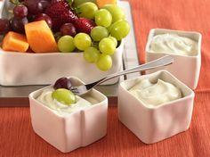 Cream cheese and marshmallow crème blend together to form a creamy fruit dip – ready in just 5 minutes.