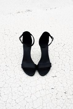 classic black heeled sandals
