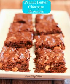 Peanut Butter Chocolate Brownies from Lauren Kelly Nutrition