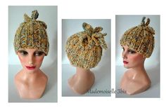 Bonnet winter hat cat bonnet tricoté main lainechapeau