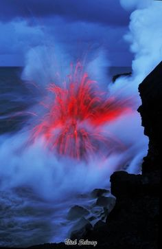Lava from Kilauea meets the ocean - Big Island Hawaii (Nick Selway photo)
