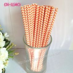Orange Chevron Design Paper Straws http://www.paperstrawssale.com/orange-chevron-design-paper-straws-500pcs-p-305.html