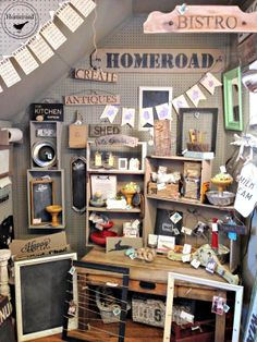 Homeroad-My Potting Bench - Coffee Table Story - lots of great ideas for display in one blog post!