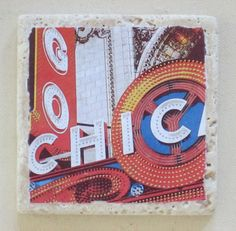 Chicago Theatre Marquee Coasters Set of 4 by MimmStudio on Etsy