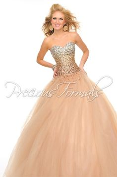 Precious Formals ball gown, style O10511 in illusion fabric.