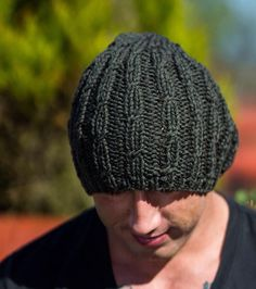 Men Cashmere Hat Slouchy Moss Green Hand Knit Aran by Reginasknits Cashmere  Hat 4fbf34b97aa