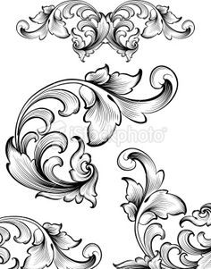 Intricate Flourish Set Royalty Free Stock Vector Art Illustration