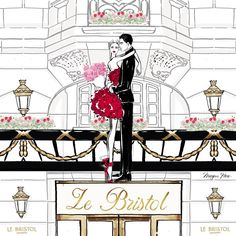 """5,682 Likes, 47 Comments - Megan Hess (@meganhess_official) on Instagram: """"It's romance every day at @lebristolparis .... my valentine illustration for the most beautiful…"""""""
