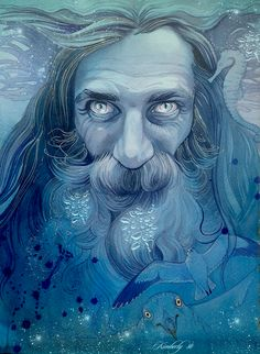 Ulmo, the Lord of Waters, lives alone, moving around in all waters of Arda. He is next in might to Manwë, and his closest friend, but he seldom came to the councils of the Valar, while he kept the whole of Arda in thought. Ulmo loves both Elves and Men, and he never abandoned them. Since all seas, lakes, rivers and fountains are under his command, his spirit runs deep into Arda, learning the news and griefs that otherwise would have remained hidden from Manwë