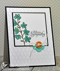 Thursday, May 2014 Joyful Creations with Kim: Floral Sympathy in Coastal Cabana Stampin' Up Blendabilities Happy Watercolor, Simply Sketched, Hearts a Flutter framelits Wood Stamp, Beautiful Handmade Cards, Get Well Cards, Card Sketches, Watercolor Cards, Sympathy Cards, Scrapbook Cards, Scrapbooking, Flower Cards