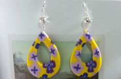 Handmade Jewelry Polymer Clay 925 Silver  Earrings by ArtdeCraft, $8.99