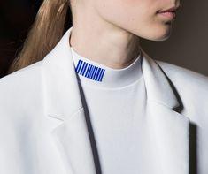 Barcode collar detail. Alexander Wang S/S 2015