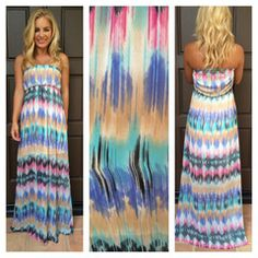 Colors Of The Wind Strapless Maxi Dress