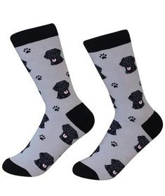 Dog lovers can stay cozy and look cool in these soft and colorful crew socks. Fits shoe sizes 5 to cotton / polyurethane / polyesterImported Dog Socks, Funny Socks, Crew Socks, Homeless Dogs, Black Labrador Retriever, Loyal Dogs, Purebred Dogs, Black Socks, Working Dogs