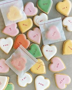 Super fun DIY idea for February! | Conversation Heart Cookies Recipe