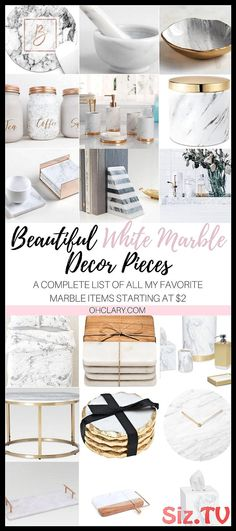 18 Of The Best White Marble Decor Pieces And Accessories From 2 - Marble Marble Floor Kitchen, Marble House, White Marble Kitchen, Ikea Hacks, Home Decor Inspiration, Diy Home Decor, Minimalism, Interior Design, Marble Interior