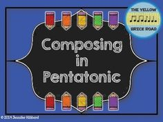 A guided composition activity for 2nd grade (or higher) using the pentatonic scale. Printable composing cards w/Solfa visuals are color-matched with Boomwhackers in the key of C.