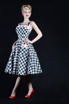 vintage inspired pin-up dress by ticci rockabilly clothing thanx: Ágoston Flóra, Kaderin Constance, Kinga Paréj, Pásztor Krisztina