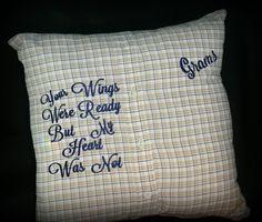 Memory Pillow/Keepsake Pillow made from by CarmensCustomCreatio