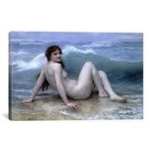 Found it at AllModern - 'The Wave (La Vague)' by William-Adolphe Bouguereau Painting Print on Canvas