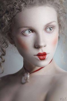 make up doll gray and red