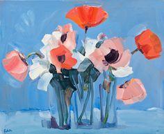 Pink Poppies Still Life by James Fullarton - art print from Easyart.com