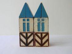 vintage scandinavian house blocks