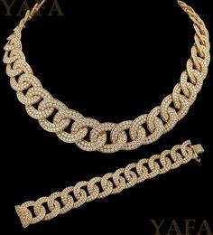 GABRIELLE'S AMAZING FANTASY CLOSET | Van Cleef & Arpels Diamond Link Necklace and Bracelet | Saved for Future Outfits in Gabrielle's Amazing Fantasy Closet
