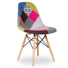 Chaise WOODEN -Patchwork Edition- (Chaises Icon Design) - DSW Patchwork Chaises de design, tables de design, meubles de design, Modern classic, design contemporains...