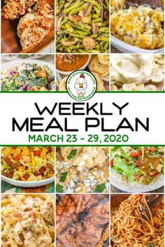 Weekly Meal Plan - what to make for dinner every night this week. A quick, easy, and delicious recipe for every single night of the week. Main dishes, sides, and dessert. Frugal Meals, Easy Healthy Dinners, Quick Easy Meals, Plain Chicken Recipe, Cream Of Chicken Soup, Chicken Menu, Chicken Recipes, Cheap Dinners, Meals For The Week
