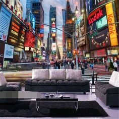 beibehang Manhattan 3d papel de paede KTV rice wine dessert cafe personalized theme wall paper streets of New York wallpaper #Affiliate