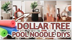 AMAZING DOLLAR TREE POOL NOODLES DIYs *hacks that will leave you speechless* - YouTube Pool Noodle Crafts, Sewing Crafts, Diy Crafts, Pool Noodles, Dollar Tree Crafts, Diy Videos, Boho Decor, Fall Decor, Diys