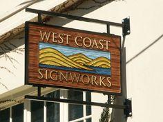 Sandblasted wood sign.