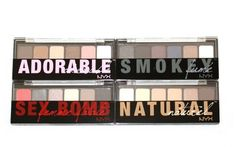 NYX Cosmetics Lot 4 Eyeshadow Pallette