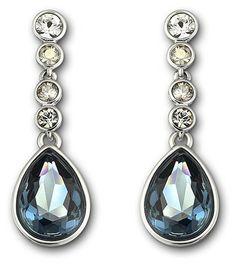cc55b8675 SWAROVSKI MERINGUE MONTANA PIERCED EARRINGS 1062667 | Duty Free Crystal  Blue Sparkles, Pierced Earrings,