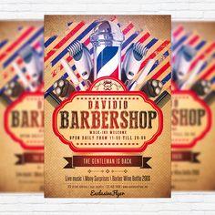 Barbershop – Premium Flyer Template + Facebook Cover http://exclusiveflyer.net/product/barbershop-premium-flyer-template-facebook-cover/