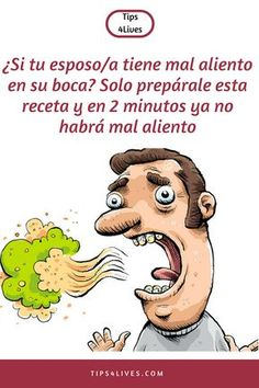 ¿Si tu esposo/a tiene mal aliento en su boca? Solo prepárale esta receta y en … If your spouse has bad breath in his mouth? Just prepare this recipe and in 2 minutes there will be no bad breath. Chronic Bad Breath, Halitosis, Small Intestine Bacterial Overgrowth, Bad Breath Remedy, Personal Hygiene, Mouthwash, Oral Hygiene, Dental Health, Natural Medicine