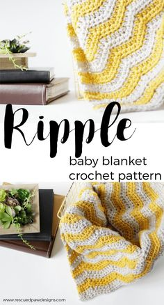 Baby Ripple Crochet Blanket - Click through to make now or Pin and Save for Later!