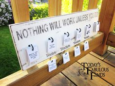 Today's Fabulous Finds: Job Board with Stenciled Quote