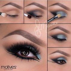 Here is a DIY of this beautiful powder blue and silver smokey eye. #repost…