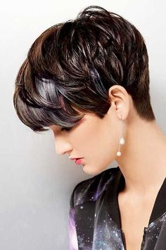 Shinny Long Pixie Hairstyle