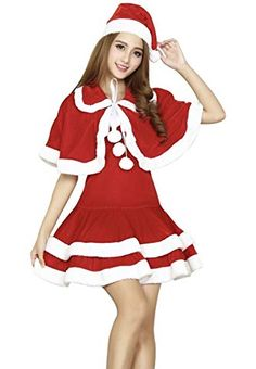 c4a2910d363de YOMI クリスマス フード コスプレ コスチューム 衣装 クリスマスサンタ サンタクロース コスプレ サンタ コスチューム レディース 3点セット