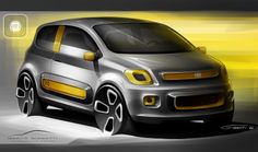 Fiat Uno - sketch rendering Marco Gianotti
