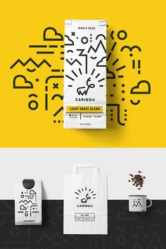 27 New Creative Branding, Visual Identity and Logo Design Examples Branding: Caribou Coffee - Stationary Items - Trend Identity Design 2019 Corporate Design, Corporate Branding, Business Branding, Logo Branding, Stationary Branding, Typography Logo Design, Corporate Stationary, Stationary Design, App Design