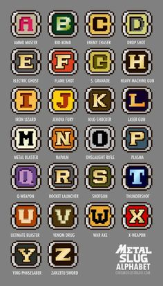 Metal Slug Alphabet