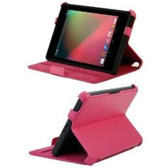 KaysCase BookShell Leather Case Cover for Google Nexus 7 inch Tablet Android 4.1 Jelly Bean with Built-in Stand (Hot Pink) (Electronics)  http://www.amazon.com/dp/B008I2K2Y6/?tag=heatipandoth-20  B008I2K2Y6
