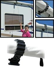 The amazing RV Awning Clamp keeps your Awning from unfurling