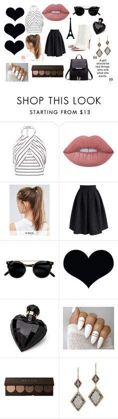 """""""Two Things"""" by joeline-norris ❤ liked on Polyvore featuring Boohoo, Christian Louboutin, Lime Crime, NIKE, Chicwish, Lipsy and Dana Kellin"""