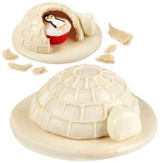 Ice To Be Home Piñata Treats - Give this cute little guy a warm reception at your next winter gathering. Make his home-sweet-home using the Mini Ball Pan.