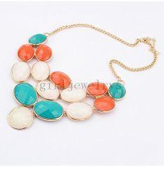 bib necklace collana di istruzione collana perla di girljewelrys, $9.99